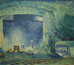 inpage mine oil painting