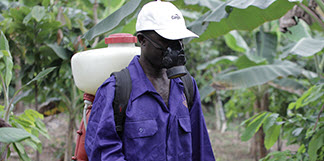 Farmer in Crop Protection Program