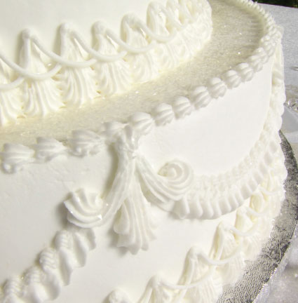 White cake with icing