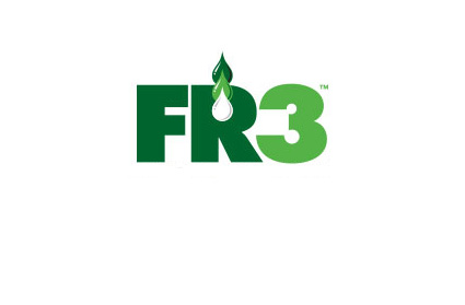 FR3 logo - The letters F and R in dark green with the number 3 in lighter green.