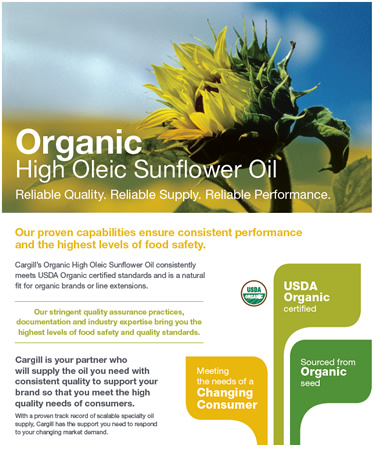Organic HOSUN sell sheet