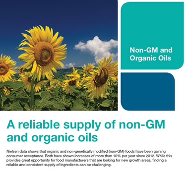 Non-GMO and Organic Oils Offerings