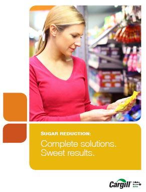 Sugar Reduction Solutions Brochure
