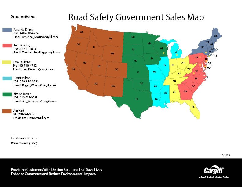 Government sales contacts map