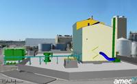 Original rendering of West Fargo oilseed facility. Cargill.