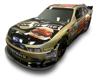 Cargill Beef/Roush Fenway Racing No. 6 Ford Mustang.