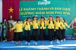 Education is one of the pillars of Cargill's community giving programs. Above, students from the Phu Hoa Kindergarten.