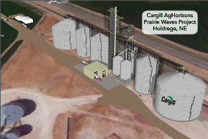 Cargill AgHorizons Prairie Waves Project. Holdrege, Nebraska.