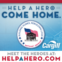 "Cargill's Wichita-based beef business is sponsoring ""Help a Hero Come Home,"" via a ground beef initiative designed to raise money and awareness for Homes for Our Troops."