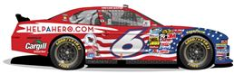 "Cargill Beef will include a special paint scheme on the No.6 Cargill Beef Ford Mustang - driven by Fenway Racing's Trevor Bayne on June 28, 2013, in the NASCAR Nationwide Series race at the Kentucky Speedway - for their ""Homes for Our Troops"" sponsorship."