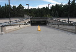 Treated driveway. SafeLane® surface overlay, Cargill.