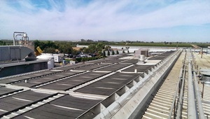 Solar array at Cargill's Fresno beef processing plant.