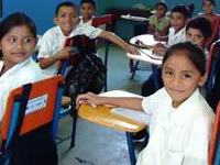 Central America classroom. Cargill and CARE partnership.
