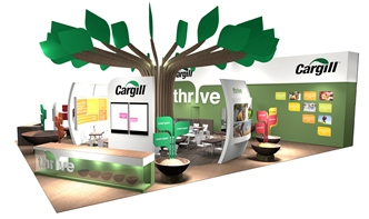 Illustration of Cargill's stand at FiE.
