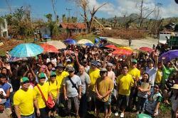 Cargill employee volunteers in Capiz, Leyte. Philippines.