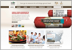 CargillGroundBeef.com, a one-stop website for consumers seeking information about ground beef.