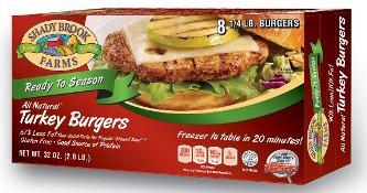 Shady Brook Farms™ turkey burgers.
