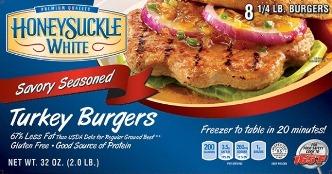 Honeysuckle White® turkey burgers.