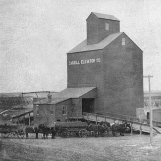 A grain storage structure, 1885